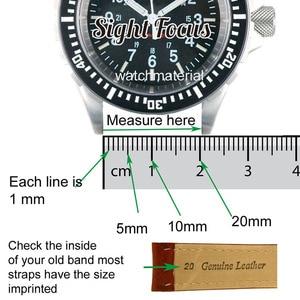 Image 5 - Calfskin pulseira de relógio de couro, pulseira de couro para respiração 20mm 22mm 24mm, pulseira de couro preto, marrom, azul pulseira masculina