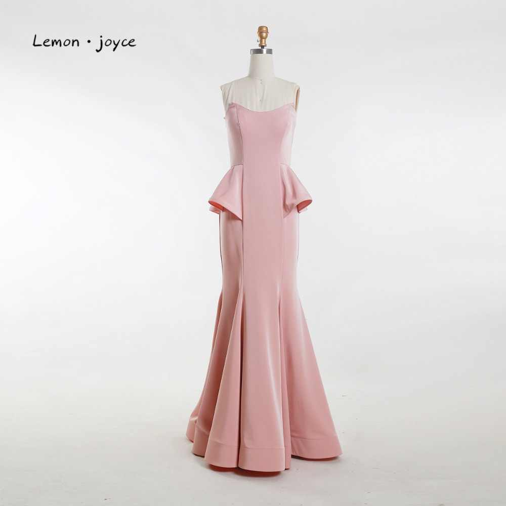 ... Elegant Evening Dresses for Women Long 2019 Simple Strapless  Floor-length Mermaid Pink Prom Party ... d52572766ed2
