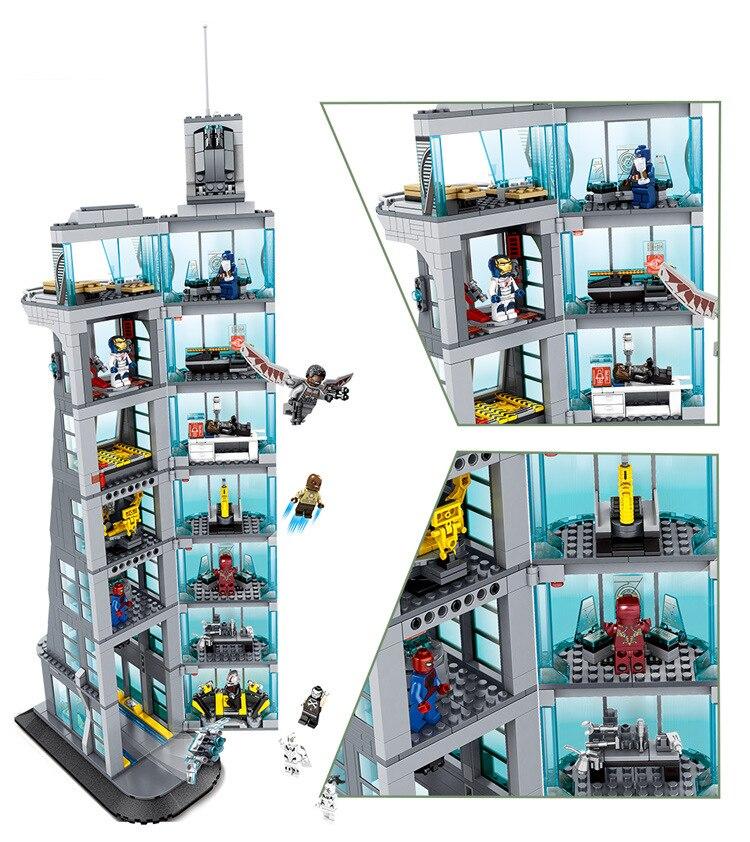 Nuevos vengadores Torre bloque de construcción ajuste juego infinity wars figuras superhéroes ironman marvel ladrillo niños regalo juguete-in Bloques from Juguetes y pasatiempos    2