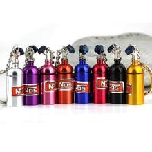 Новые творческие NOS Мини Закись азота бутылка, брелок с кольцом для ключей тайник Pill коробка для хранения турбо брелок
