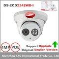 Hikvision original inglês versão com firmware atualizável 4mp câmera dome ip poe apoio ds-2cd2342wd-i nuvem serviço 20 pcs