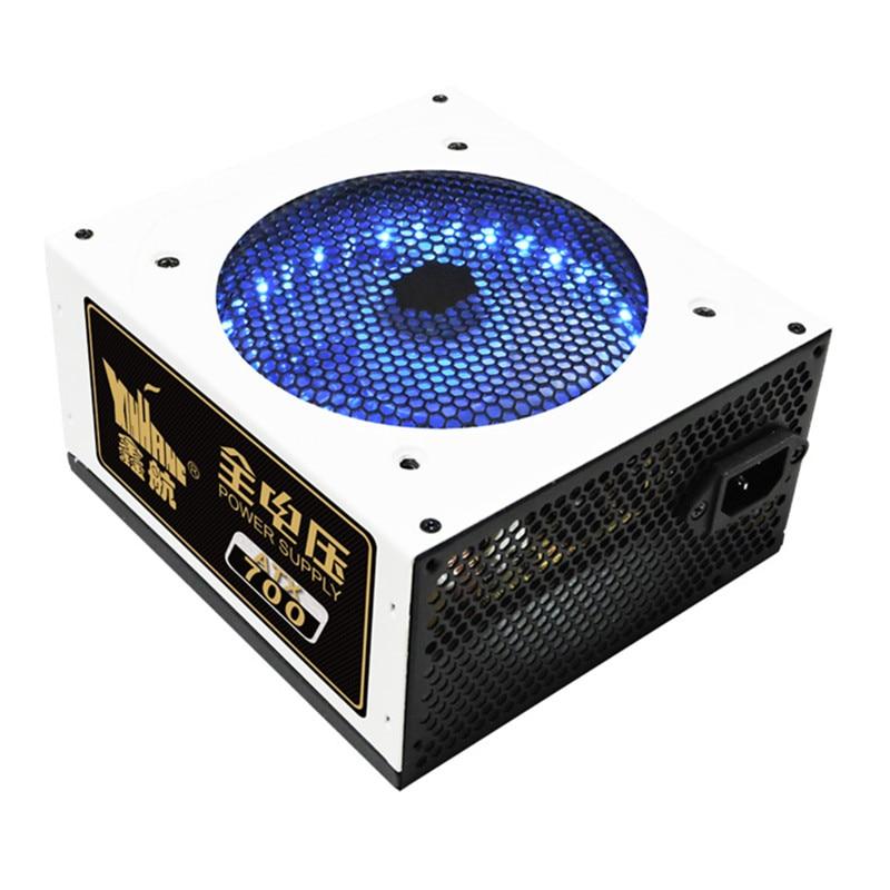700 W PC alimentation 700 W ATX ordinateur alimentation de bureau PC de jeu PSU actif PFC 120 MM ventilateur 90-264 V 92% efficacité EU UK US