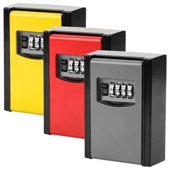 4 Digit Key Storage Box Wall Mounted Safety Lock ToolCombination Password Combination