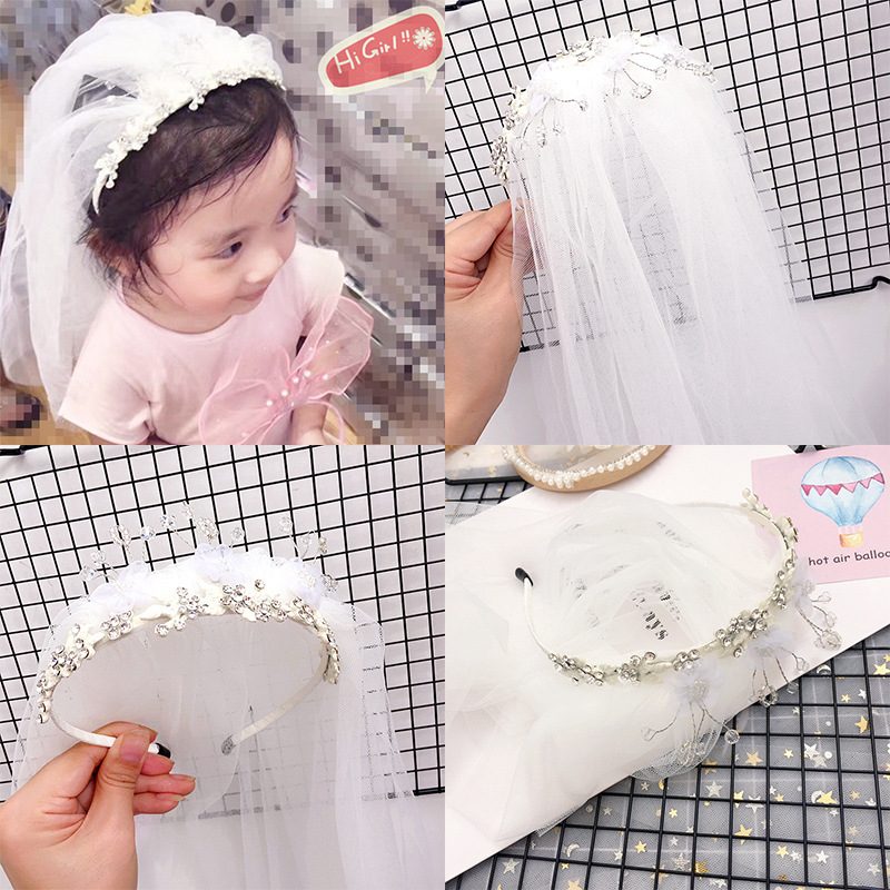 Korea High Quality Lace Wedding Hair Band Bow-knot Hair Accessories lovely Headband for Girls Hair Band Hair Bow Princess