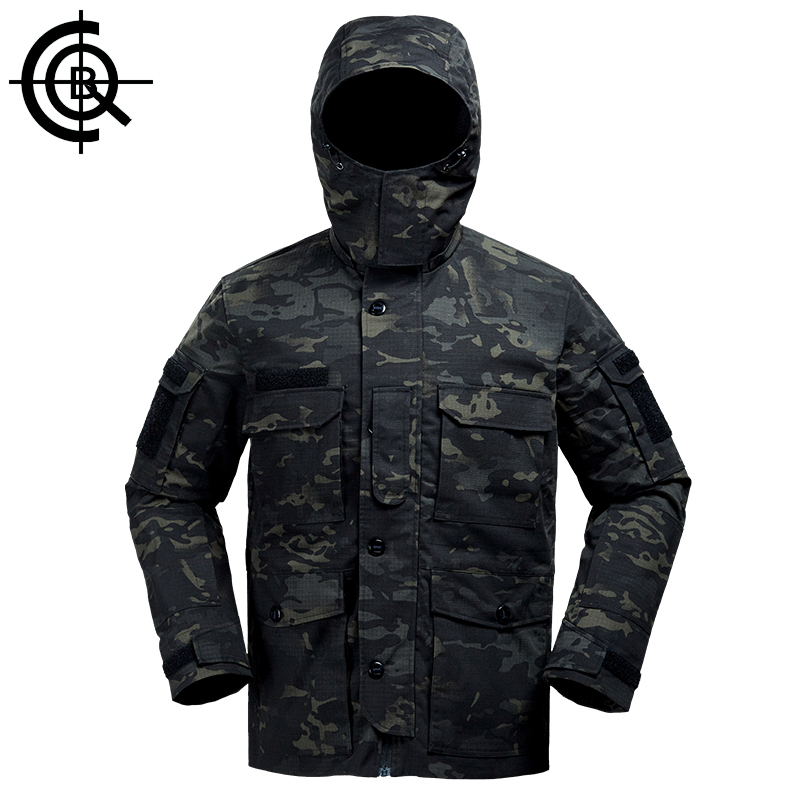 CQB Outdoor Tactical Camouflage Jacket Water Repellent Windproof Camping Fishing Windbreaker Hunting Clothes CYF1373