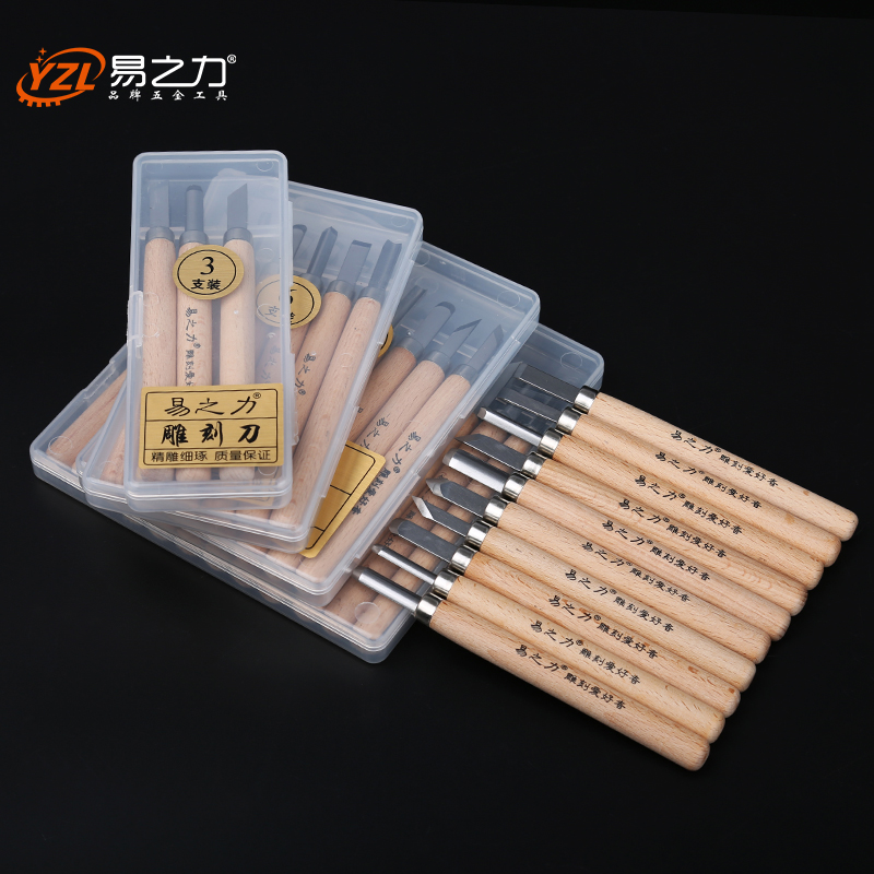 12pcs Woodcut Knife Wood Carving Tools Woodworking Hand Tool Set Hobby Arts Crafts Knife DIY Rubber Stamp Cutter