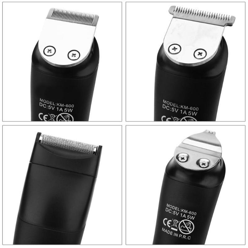 KEMEI KM-600 6 en 1 tondeuse cheveux étanche tondeuse nez tondeuse à barbe rasoir électrique pour hommes rasoir Machine à raser - 4