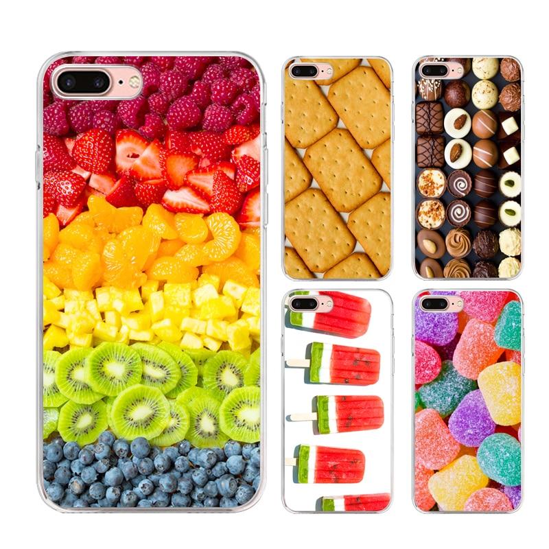 Módní design jídlo série telefon pouzdro pro iPhone 4 4s 5 5s se 6 6s 6 plus 6s plus 7 7 plus malované TPU měkké silikonové krycí skořepiny