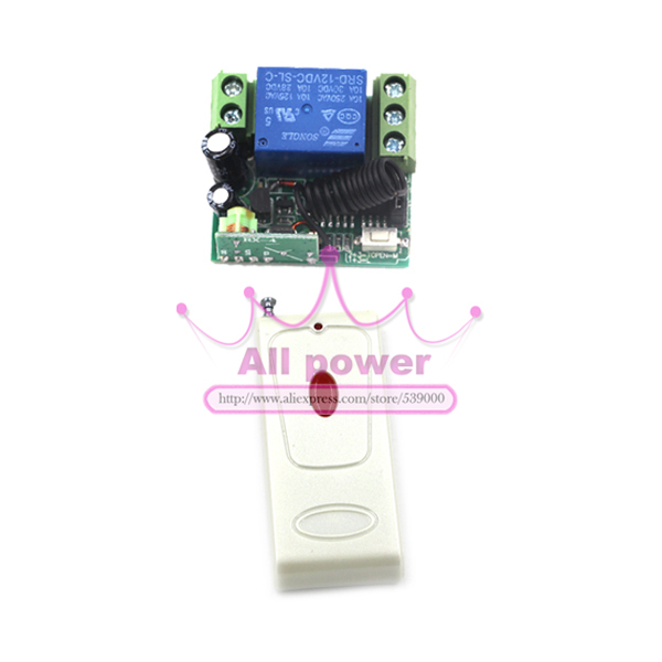 wireless remote control light lamp, 12V Three Ways Wireless RF ...