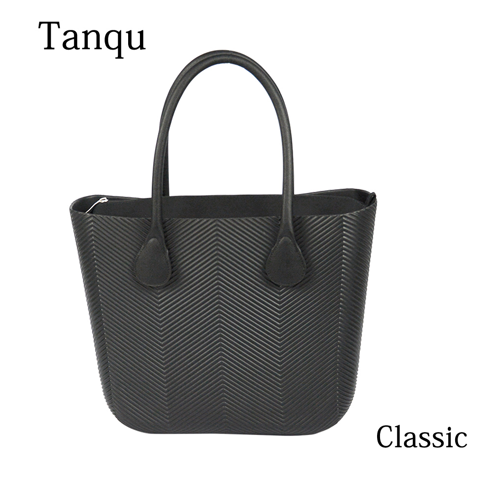 2019 New TANQU Obag Style Classic Big EVA Bag with Inner Pocket Colorful Handles Waterproof O