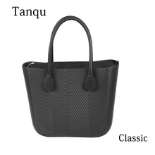 цена на 2019 New TANQU Obag Style Classic Big EVA Bag with Inner Pocket Colorful Handles Waterproof O bag Women bag Shoulder bag handbag