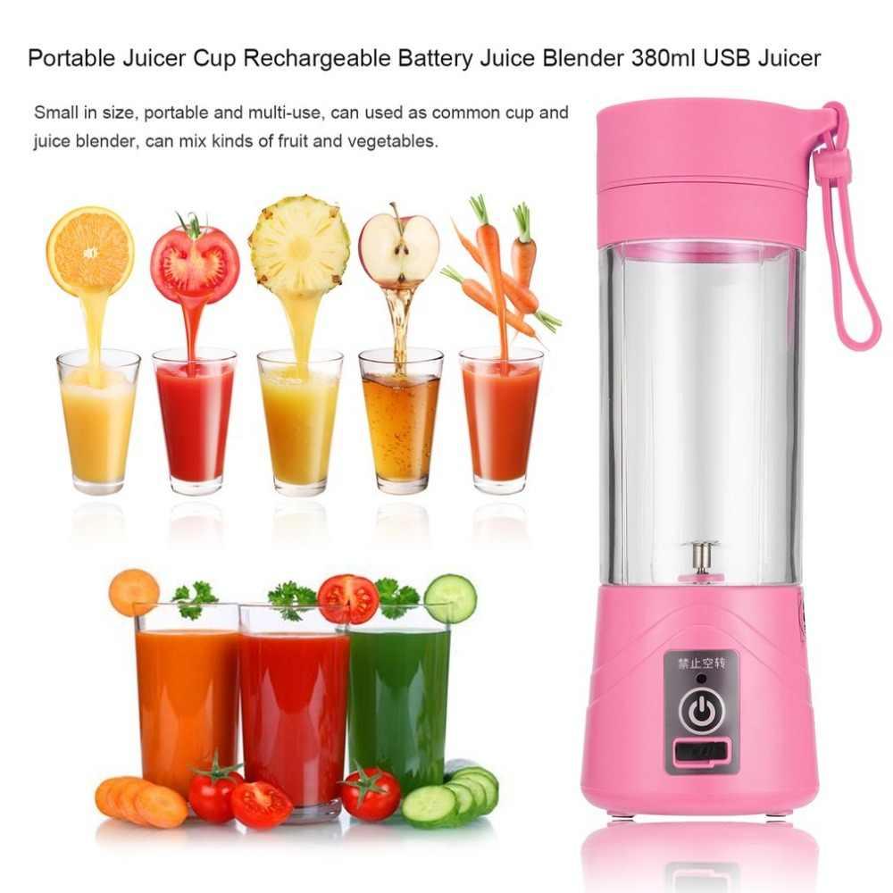 新ファッションと高品質ポータブルジューサーカップ充電式バッテリージュースブレンダー 380 ミリリットル USB ジューサー