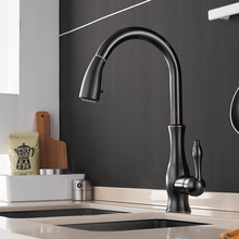 Kitchen Faucets Silver Single Handle Pull Out Kitchen Tap Single Hole Handle Swivel 360 Degree Water Mixer Tap Mixer Tap 866011
