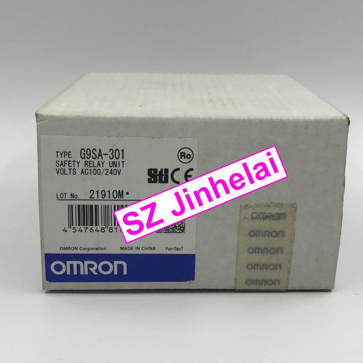 New and original  G9SA-301  AC100-240V  OMRON SAFETY RELAY UNIT new and original e3x da11 s omron optical fiber amplifier photoelectric switch 12 24vdc