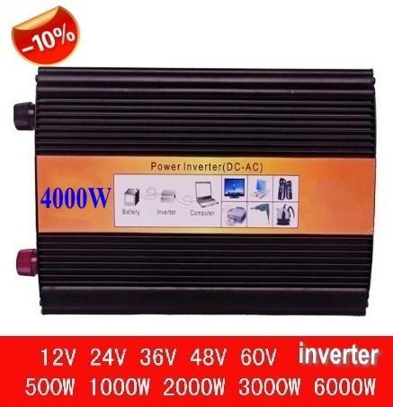 Car Power Inverter 4000w 110v DC12V/24V/48V TO AC220V/110V 4000 Watt Pure Sine Wave Solar Power Inverter Converter 100w car dc 12v to ac 110v power inverter w usb power port black