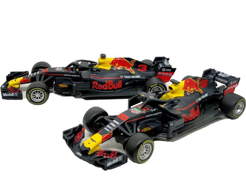 Bburago 1:43 F1 2018 Redbull Team RB14 #33 Max Verstappen coche de carreras Diecast