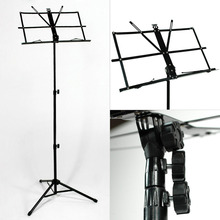 Hot Sale Foldable Lightweight Metal Material Sheet Music Stand Holder Black with Waterproof Carry Bag Ship From US