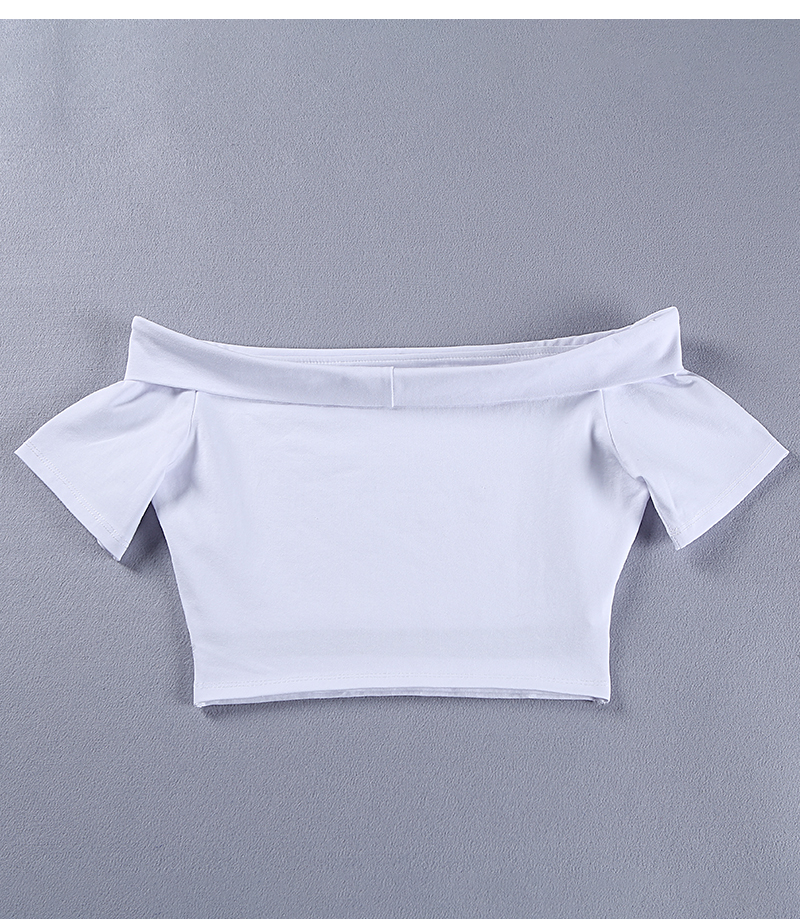 HTB16NnGRXXXXXXwXFXXq6xXFXXX0 - Women Sexy White Off Shoulder Cut Out Crop Top Short T-Shirt PTC 256