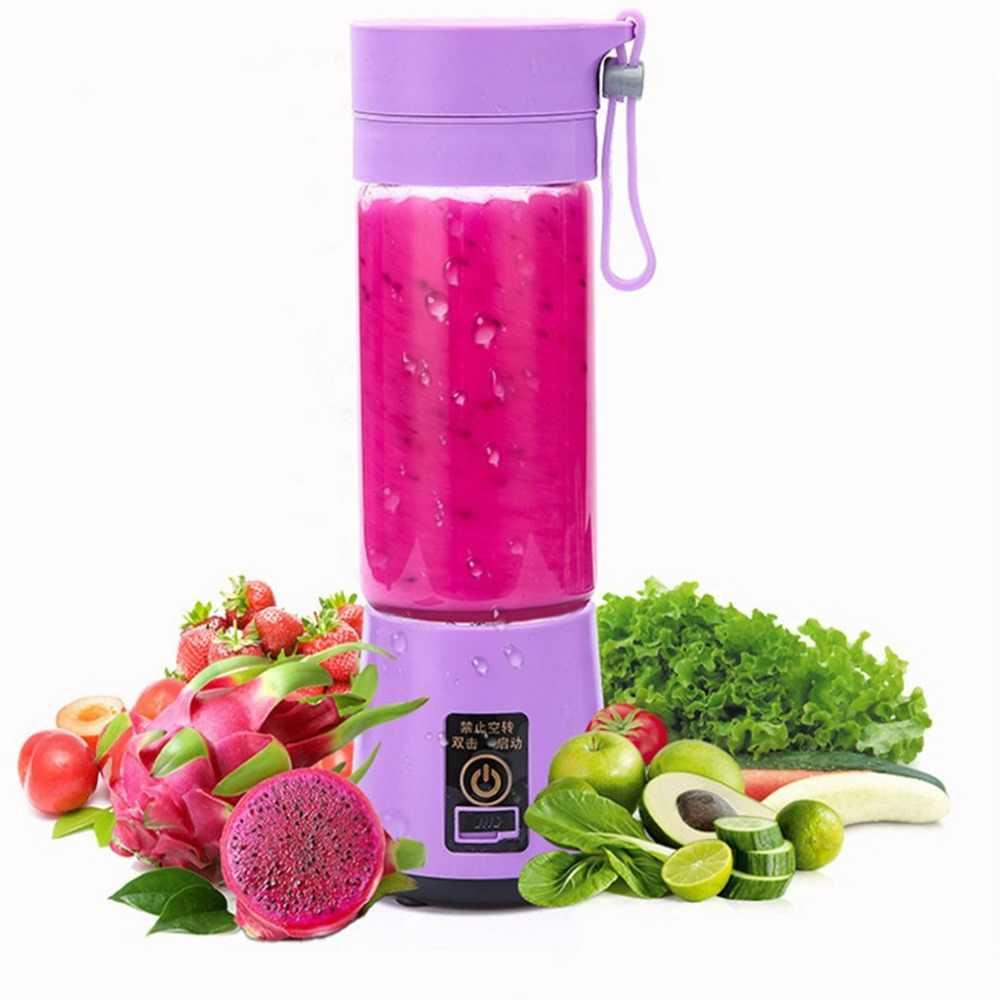 Fabricante De Suco De Vegetais Liquidificador Espremedor de Frutas Elétrico portátil Handheld Recarregável Mini Tomada de Suco de Laranja Copo Espremedor