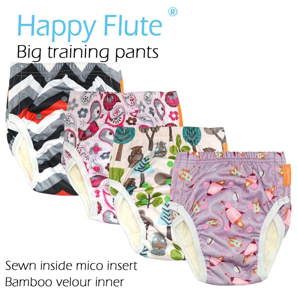 HappyFlute Grandes Calças De Treinamento para a Criança, PUL exterior, interior de bambu terry, para 2-34-64 5 anos bebê ou ajuste da cintura cm