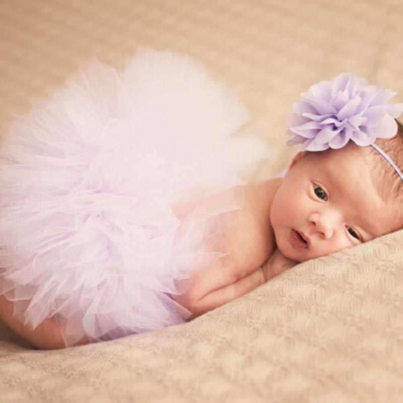 Новорожденный Подставки для фотографий юбки детский костюм принцессы для девочек детская юбка-пачка с головной повязкой для маленьких Подставки для фотографий детская юбка