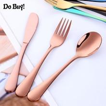 3pcs Baby Teaspoon Food Feeding Fork Knife Utensils Set Stainless Steel Kids Tableware Infant Cutlery