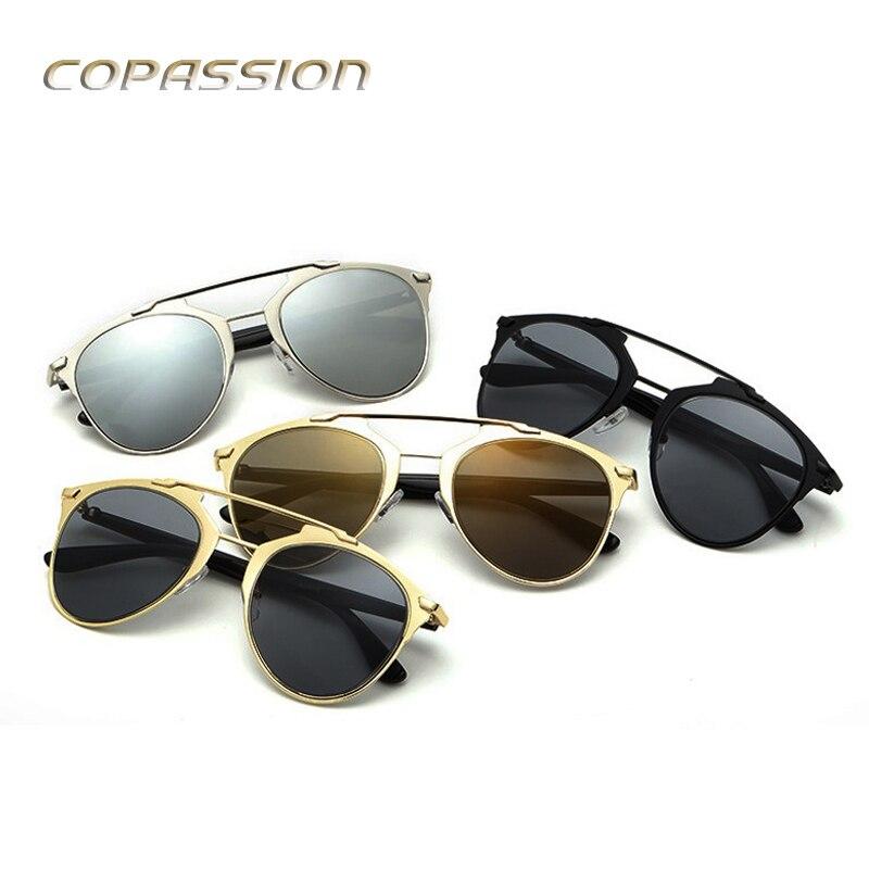 Oversize Lady Cat Eye Sunglasses Women Brand Designer Metal Frame sun glasses for women uv400 Goggles oculos de sol feminino