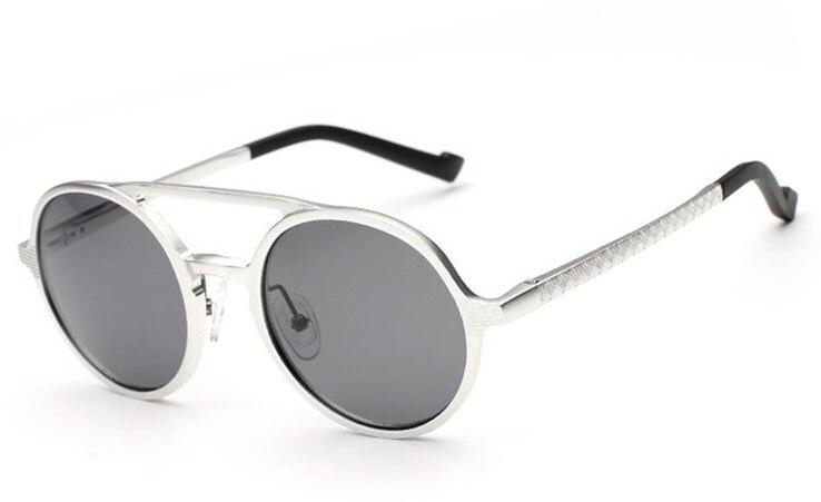 CLARA VIDA High grade Aluminum Magnesium Alloy Retro Round Mens womens Polarized Sunglasses Tac Enhanced