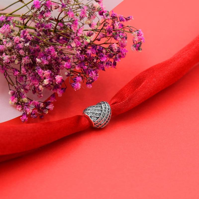 Caliente de plata europea CZ Charm Beads Fit Pandora estilo pulsera - Bisutería - foto 6