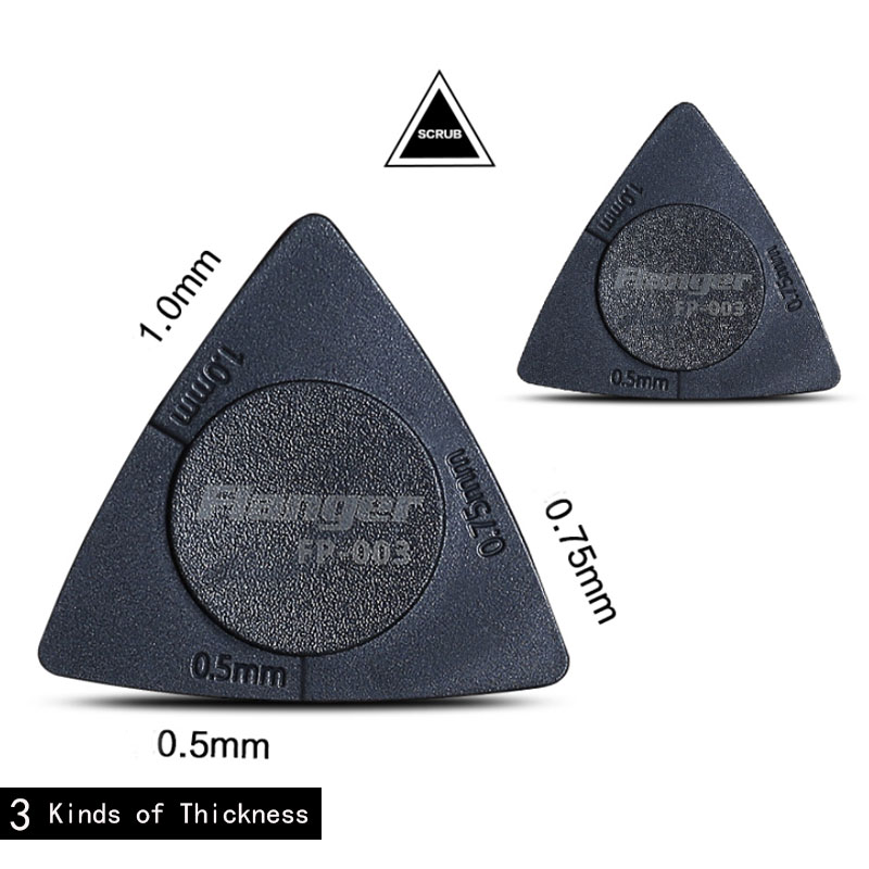 1pcs Triangle Guitar Picks 3 in 1 Pick 0.5mm+0.75mm+1mm PC+ABS Portable Accessories Flanger FP-003
