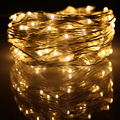 10M 33FT 100 led USB Outdoor Led Silver Wire String Lights Decoration Christmas Festival Wedding Party Garland Fairy Lights
