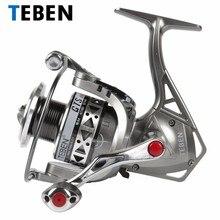 2018 Teben True 8 Bearings 5.2:1 Fresh Water Carp Fishing Spinning Reel 2-6000 Series Original  Rubber Handle Reels
