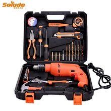 30pcs household/Industrial large saw drill combination set toolbox professional hammer power tool