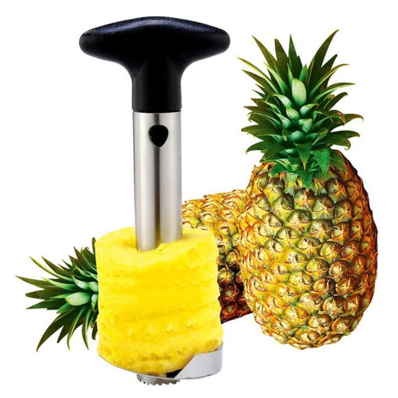 Stainless Steel Pineapple Slicer for Kitchen Accessories Cuisine Corer Peeler Shredder Spiralizer Cooking Fruit Vegetable Tools