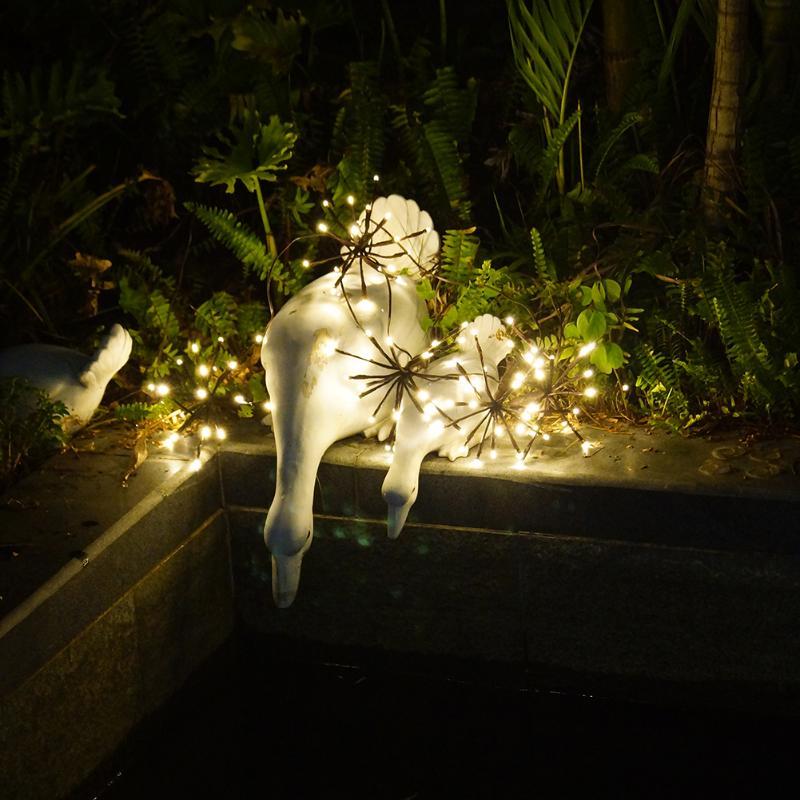 ЕС Plug взрыв мяч Звездное свет строка 2 м 100LED теплый белый blast форму шара света для рождественской вечеринки дерево рождество Свадебные ...