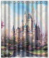 Free Shipping Castle Curtain Bath Curtain High Quality Of Shower Curtain Print 60 X 72 C562