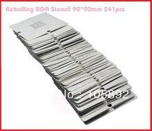 Date 241 pcs/lot rebillage bga pochoir kit BGA Pochoirs Modèles Set bga pochoir réparation 90mm X 90mm