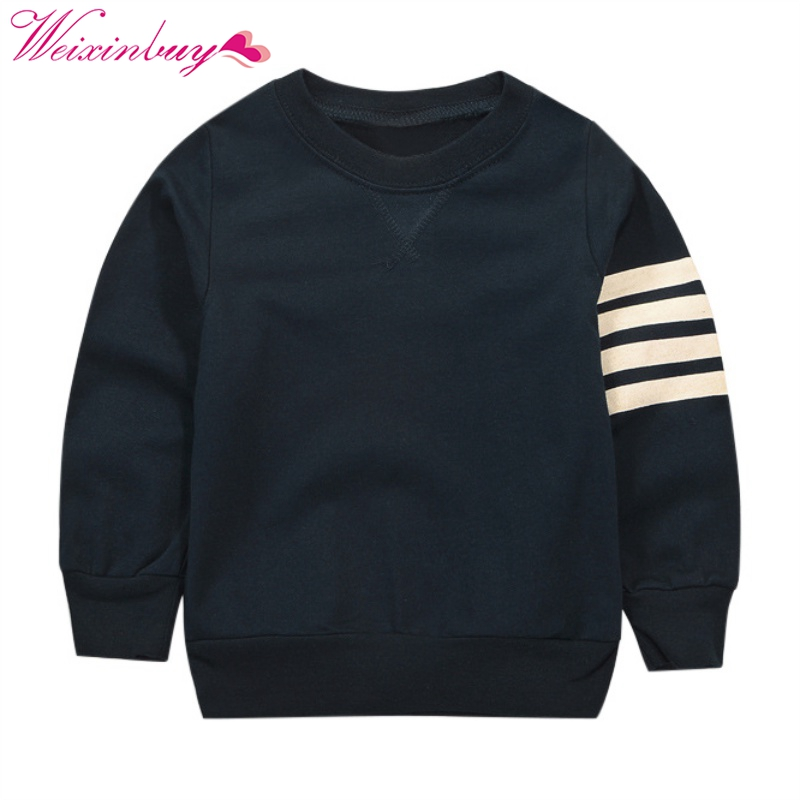 2017 Brand Kids T-shirts Boys Long Striped Sleeve Tops for a boy for Boy sweatshirt Casual Clothes Children Clothing ...