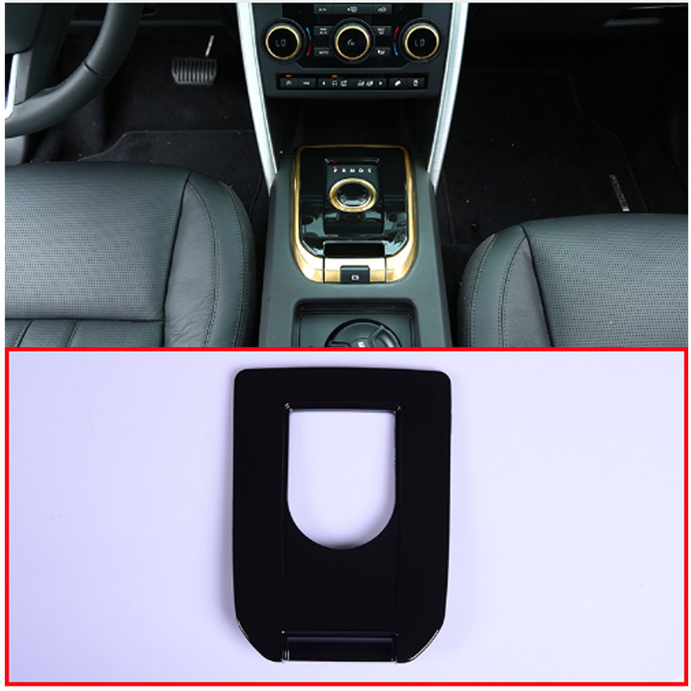 Gloss Black ABS Plastic Gear Shift Panel Cover Trim For Land Rover Discovery Sport 2015-2017 Car AccessoryGloss Black ABS Plastic Gear Shift Panel Cover Trim For Land Rover Discovery Sport 2015-2017 Car Accessory