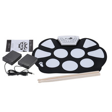 HOT SALE Portable Electronic Roll up Drum Pad Kit Silicon Fo