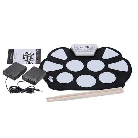HOT SALE Portable Electronic Roll up Drum Pad Kit Silicon Foldable with Stick Music Instruments Pakistan