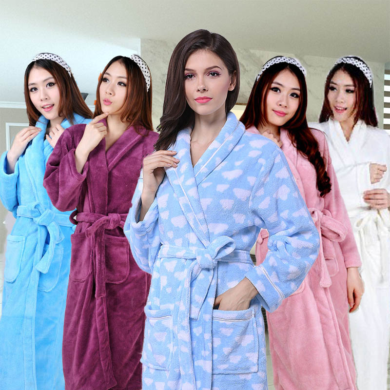 Lady s Bathrobe Beautiful Breathable Coral Fleece Warm Super Sale-in Robes  from Underwear   Sleepwears on Aliexpress.com  0f0e3eb94