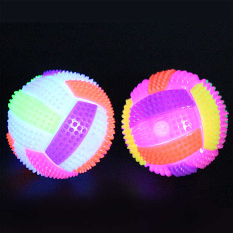 Newest Flashing LED Volleyball Flashing Light Up Bouncing Hedgehog Ball Kids Toy Color Chang Kids Toys For Children Fun Playing