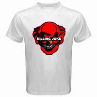 2018 Latest Fashion New KILLING JOKE Punk Rock Band Logo Men S White Black T Shirt