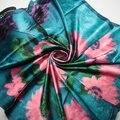 90 cm * 90 cm 2016 nova inverno cachecol moda Gradual cores chiffon georgette silk scarf Shawl Wrap mulheres cachecóis espanha cachecol