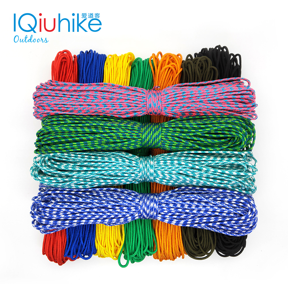 IQiuhike 2mm 50FT One Stand Cores Paracord Rope Cuerda Escalada Bracelets Paracord Cord For Jewelry Making Paracord