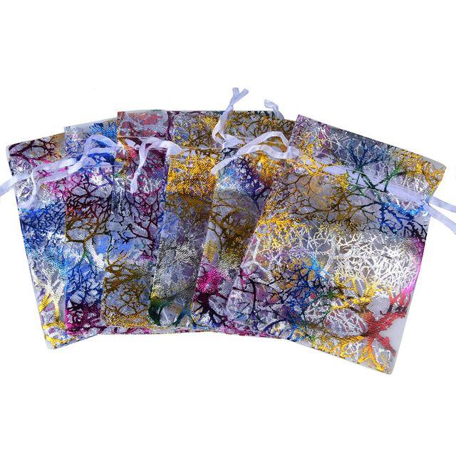Chanfar Favor Wedding Organza Christmas Gift Bags Drawable Packaging Bags 3