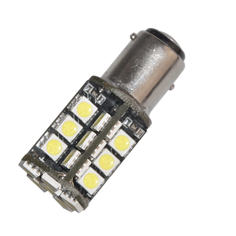 1PCS T25 BAY15D 1157 Pure White 30 5050 SMD LED Tail Stop Brake Signal Light Bulb 3.8W