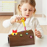 Early Childhood Educating Children Boys And Girls Magnetic Fishing Catching Insects Toy Birds Eating Insects And Pecking Woo