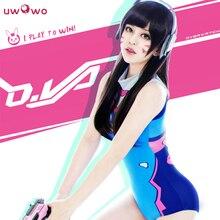 UWOWO D.va Cosplay OW DVA Swimsuit Jumpsuits Costume DVA Swimsuit  Uwowo D.va Cosplay Costume Girls